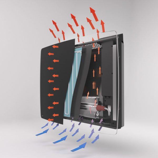 Vitro-i Designer Heater Cutaway