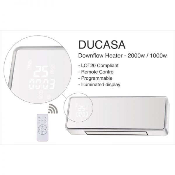 Bathroom Downflow Heater Display