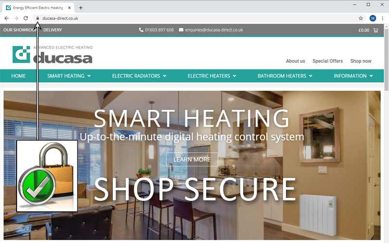 Secure Shopping for Electric Heaters