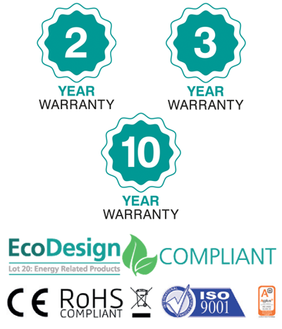 2 year, 3year and 10 year warranty details